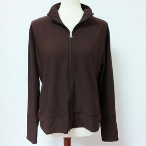 Lucy Activewear Vital Tech Brown Zip Front Jacket